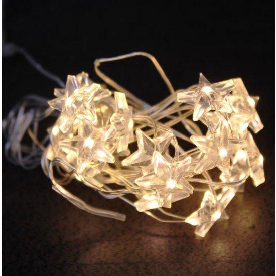 20er Micro Led Lichterkette Sterne Warmweiß 595